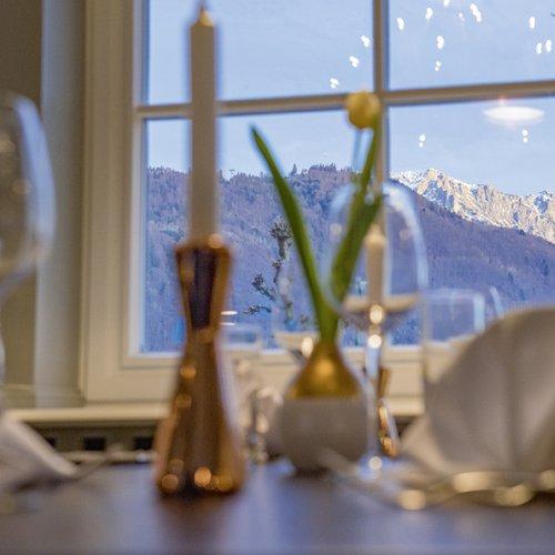 Ausblick auf den Grünberg mit Traunstein im Hintergrund