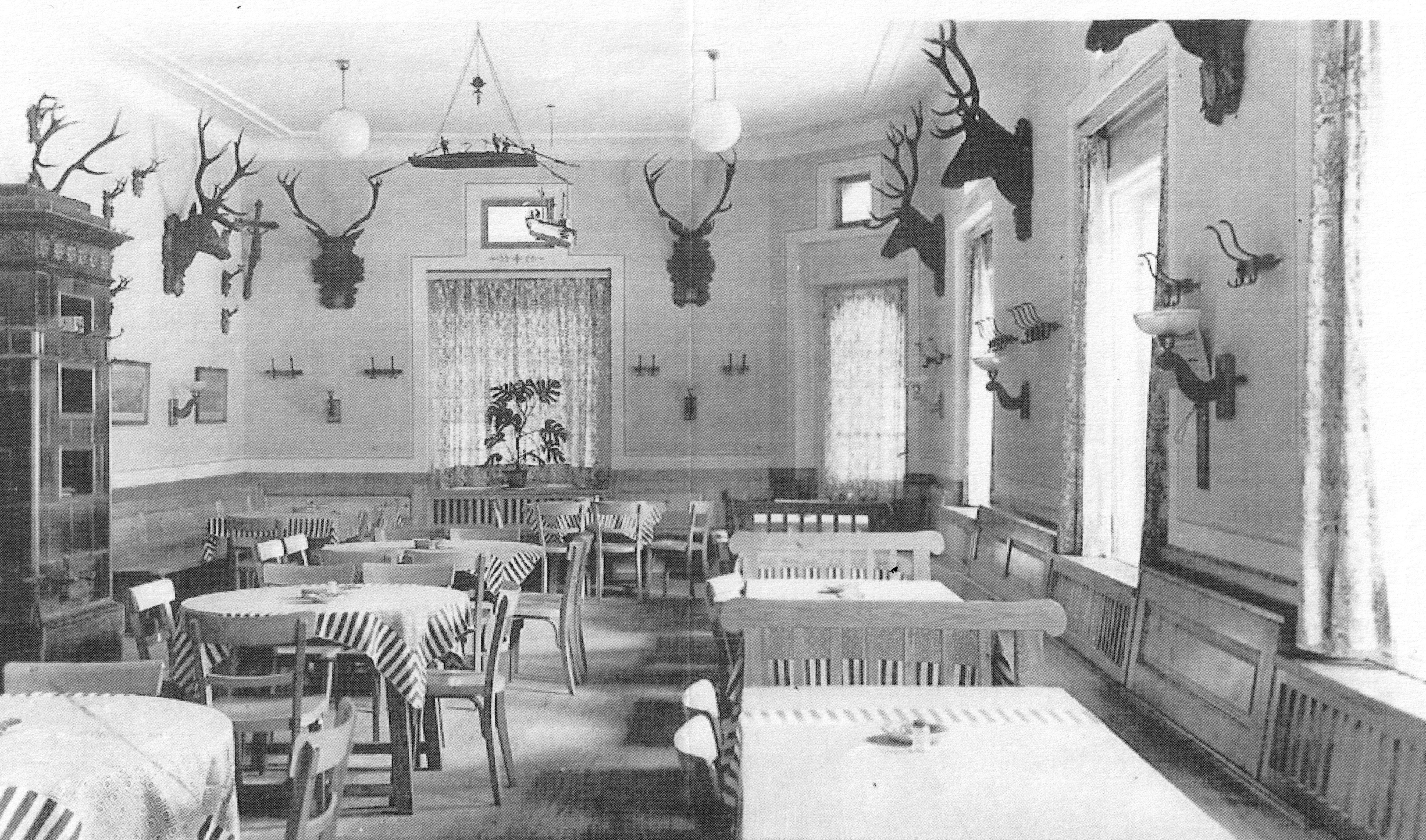 Seehotel Schwan Speisesaal um 1930